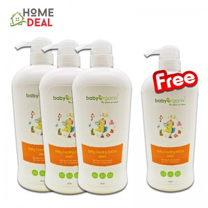 Buy 3 free 1 Baby Organix Baby Feeding Bottle Wash - 800 ml