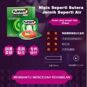 Playsafe- Pek Mudah Kondom Ultra Nipis 2's