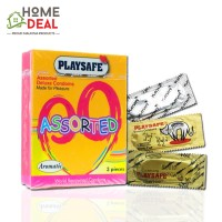 Playsafe - Assorted Deluxe Condoms (Campuran 3 Jenis Kondom) 3's