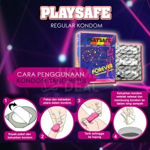 Playsafe - Regular Kondom (Kondom Biasa) 3's