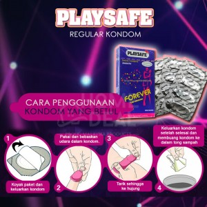 Playsafe - Regular Kondom (Kondom Biasa) 12's