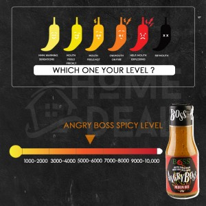 BOSS- Angry Boss Chilli Sauce 270g