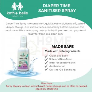 Kath + Belle Diaper Time Sanitiser Spray 100ml (Kath + Belle尿布卫生喷雾)