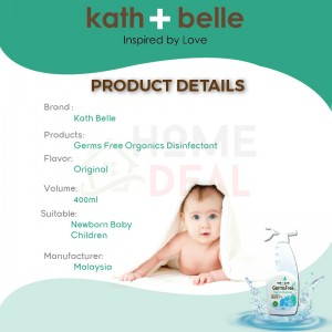 Kath + Belle GermsFree Organic Disinfectant Spray 400ml (Kath + Belle防菌有机消毒喷雾)