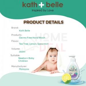 Kath + Belle  GermsFree Hand Wash ( Tea Tree, Lemon & Spearmint) 250ml (Kath + Belle防菌洗手肥皂(茶树,柠檬,薄荷))