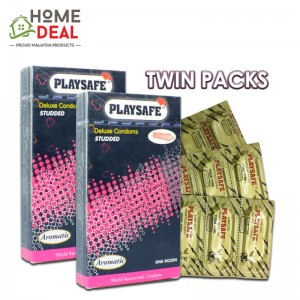 Playsafe - Studded Deluxe Condoms 12's TWINPACKS