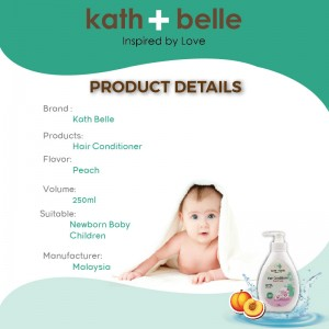 Kath + Belle Hair Conditioner 250ml ( Peach Flavour ) (Kath + Belle护发素-桃子)