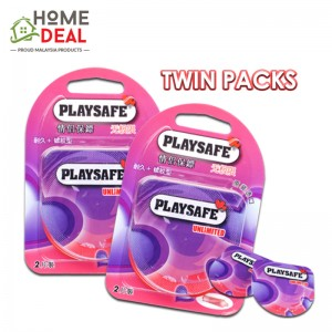 Playsafe Easy Pack Long Love + Ribbed 2's TWINPACKS