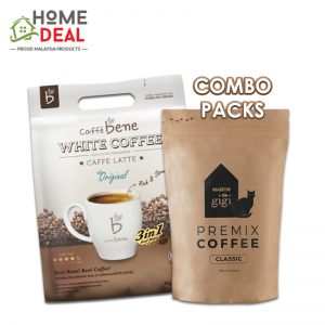 Caffe Bene White Coffee Original + Maison De Gigi Classic Coffee (Combo Pack)