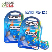 Playsafe Easy Pack Ribbed + Dotted 2's TWINPACKS
