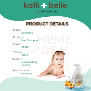 Kath + Belle Hair Shampoo 250ml (Peach) (Kath + Belle洗发水-桃子)