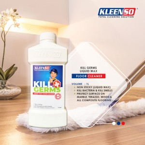 Kleenso Kill Germs Liquid Wax Floor Cleaner 1 Litre Pencuci Lantai