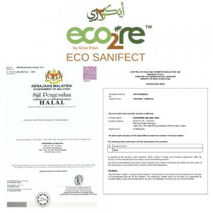 ECO2RE Eco Sanifect Alcohol Free Hand Sanitiser 500ML HALAL Sanitiser