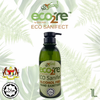 ECO2RE Eco Sanifect Alcohol Free Hand Sanitiser 1Litre HALAL Sanitiser