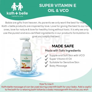 Kath + Belle Super Vitamin E Oil& VCO 100ml (Kath + Belle维他命E油&VCO)