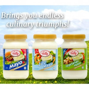 Telly Lite Mayo Oriental Recipe 230ml (TWINPACK) Mayonnaise / Less Fat / Salad Dressing