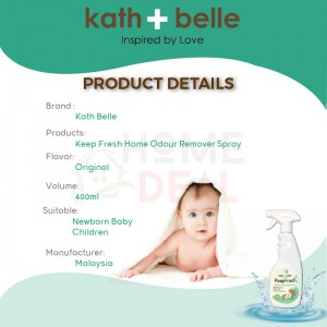 Kath + Belle Keep Fresh Home Odour Remover Spray 400ML (Kath + Belle除臭剂喷雾)