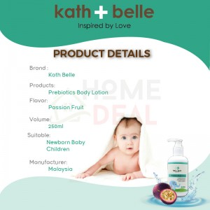 Kath + Belle Prebiotics Body Lotion (Passion Fruit  Flavoured) 250ml (Kath + Belle益生元身体乳液-百香果)
