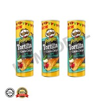 Pringles Tortilla Corn Chips Spicy Green Pepper / 3 Set combo package (品客玉米青辣椒薯片)