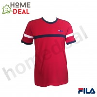 FILA Short Sleeve Round Neck T-Shirt RN0001 (Red) (斐乐红色短袖衣服)