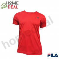 FILA RN0002 Short Sleeve Round Neck T-Shirt (Red) (斐乐红色短袖衣服)