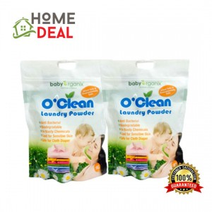 BABY ORGANIX O'CLEAN LAUNDRY POWDER 1KG (Twin Packs) (Baby Organix洗衣粉)(双套)