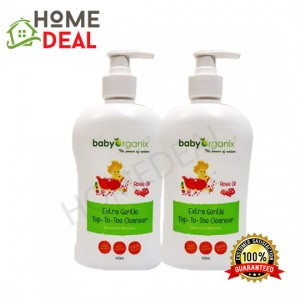 Baby Organix Extra Gentle Top To Toe Rose Oil 400ML (Twin Pack) (Baby Organix身体肥皂-玫瑰油)(双套)