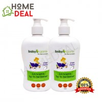 Baby Organix Extra Gentle Top To Toe Cleanser 400ml Twin Pack (Grape) (Baby Organix身体肥皂-葡萄)(双套)