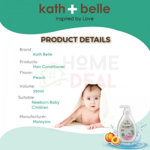 KATH + BELLE HAIR CONDITIONER & HAIR SHAMPOO 250ML (PEACH) (Kath + Belle护发素 & 洗发水-桃子)