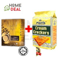 Liew's Cafe Original White Coffee + Morris Cream Cracker268g (老刘原味白咖啡 + Morris奶油饼干)