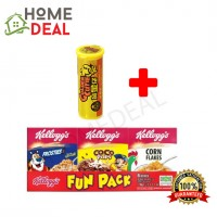 Kellogg's Fun Pack 170g 6 in 1 + BKC Golden Cutie Lemon Candy (家乐氏谷类麦片 6合1 + 马廣济黄金仔糖)