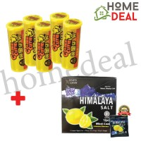 Himalaya Salt Candy (12pkts) + BKC Golden Cutie Lemon Candy (5 bottles) (Himalaya海盐糖 12包 + 马廣济黄金仔糖 5灌)