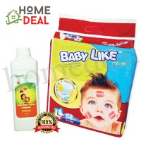 Baby Like Mega L 58pcs + Baby Organix Kids Wear Liquid  (Baby Like尿片 Mega L 58片 + Baby Organix洗衣液体)