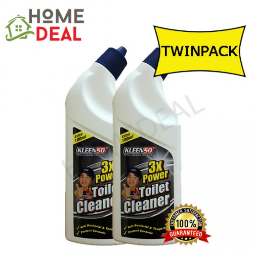 Kleenso 3x Power Toilet Cleaner 3x Power 600ml Twin Pack