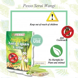 PESSO ANTI LIPAS CUBE 5 PACKS (Pesso防蟑螂立方体 5包)