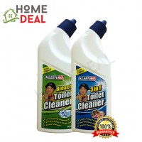 KLEENSO BLEACH TOILET CLEANER-BLEACH 600ML +  3 IN 1 TOILET CLEANER-SARSI 600ML (Kleenso厕所漂白剂600ml + 3合1 清洗厕所液体600ml)