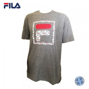 FILA 0302 Basic T Shirt (Grey) (斐乐0302灰色T恤)