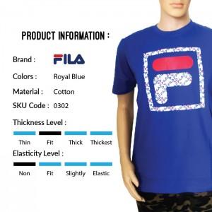 FILA 0302 Basic T Shirt (Royal Blue) (斐乐0302宝蓝色T恤)