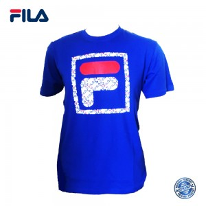 FILA 0302 Basic T Shirt (Royal Blue) (斐乐0302宝蓝色T恤)