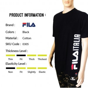FILA 0305 Basic T Shirt ( Black) (斐乐0305黑色T恤)