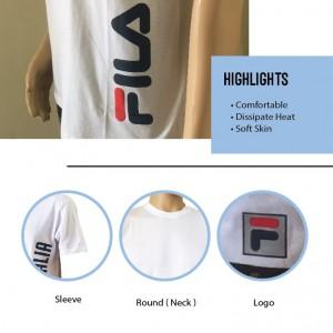 FILA 0305 Basic T Shirt ( White ) (斐乐0305白色T恤)