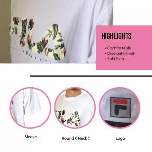 FILA 0307 Basic T Shirt ( White ) (斐乐0307白色T恤)