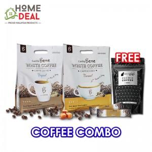 Caffe Bene White Coffee Original + Caffe Bene White Coffee Caramel Free Maison de Gigi Premix Coffee Choco (咖啡陪你原味白咖啡 + 咖啡陪你焦糖白咖啡加免费Maison de Gigi摩卡三合一咖啡粉)