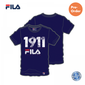PRE-ORDER FILA Cotton Basic Blue Graphic T shirt / NEW ARRIVAL (斐乐纯棉图形T恤-蓝色)