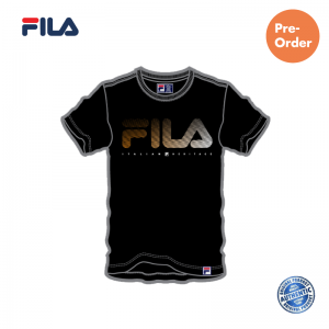 PRE-ORDER FILA Cotton Basic Black Graphic T shirt / NEW ARRIVAL (斐乐纯棉图形T恤-黑色)