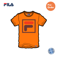 PRE-ORDER FILA Cotton Basic Orange Graphic T shirt / NEW ARRIVAL (斐乐纯棉图形T恤-橙色)