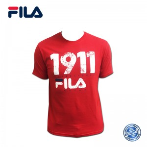 FILA Cotton Graphic T-Shirt - 0032 Red