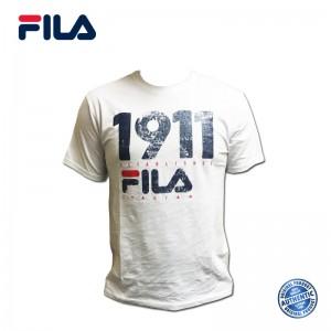 FILA Cotton Graphic T-Shirt - 0032 White