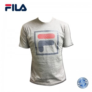 FILA Cotton Graphic T-Shirt - D6 Grey