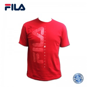 FILA Cotton Graphic T-Shirt - D7 Red